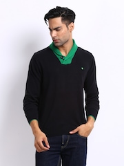 Status Quo Men Black & Green Sweater