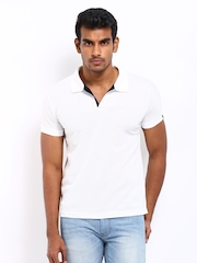 Status Quo Men White Polo T-shirt