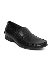 Steve Madden Men Black Leather Semiformal Shoes