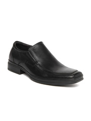 Men Black Leather Semi-Formal Shoes Steve Madden