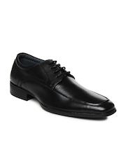 Steve Madden Men Black Leather Formal Shoes