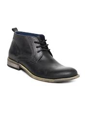 Steve Madden Men Black Leather Boots