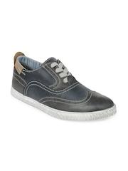 Steve Madden Men Navy Henri Leather Casual Shoes