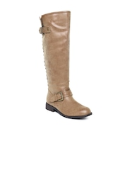 Steve Madden Women Brown Leather Boots