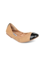 Steve Madden Women Brown Favoryte Leather Ballerinas