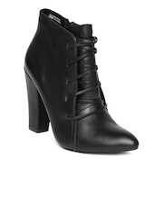 Steve Madden Women Black Leather Boots