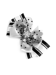 Stoln Girls White & Black Bow Hair Clip