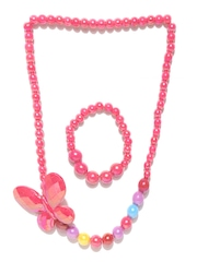 Stoln Girls Light Pink Beaded Necklace