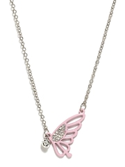 Stoln Girls Pink & Silver Toned Necklace