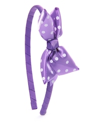Stoln Girls Purple Polka Dot Hairband