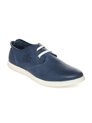 Style Centrum Men Blue Leather Casual Shoes