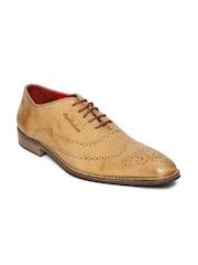 Style Centrum Men Brown Leather Semiformal Shoes