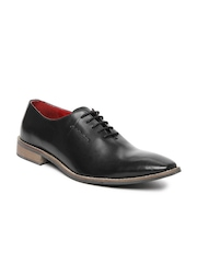 Style Centrum Men Black Leather Semi-Formal Shoes