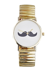 Style Fiesta Men White Printed Dial Watch JB18