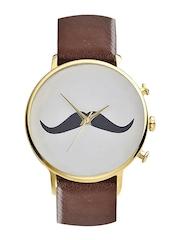 Style Fiesta Men White Printed Dial Watch JB62