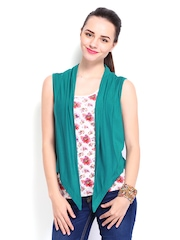 Style Quotient Teal Green Shrug