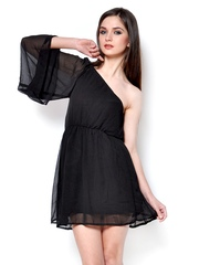 StyleToss Black Fit & Flare Dress