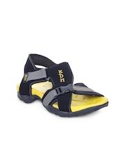 Men Black Sports Sandals Stylistry
