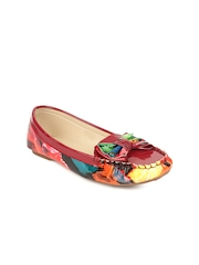 Stylistry Women Maroon Printed Moccasins