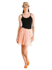 Stylsita Original Orange Floral Flounce Skirt