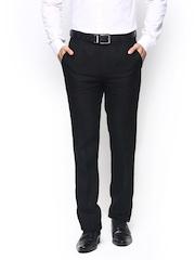 Success Men Black Linen Relaxed Fit Semiformal Trousers