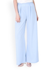 Sugar Her Women Turquoise Blue Palazzo Trousers
