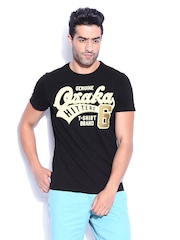 Superdry Men Black Hitter Entry T-shirt