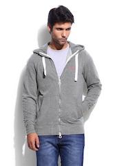 Superdry Men Grey Melange Orange Label Sweatshirt