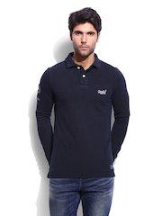 Superdry Men Navy Polo T-shirt