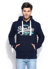 Superdry Men Navy Vintage Logo Hooded Sweatshirt