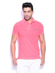 Superdry Men Pink Polo T-shirt