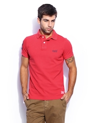 Superdry Men Red Vintage Polo T-shirt