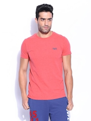 Superdry Men Red Orange Label Vintage Embroidery T-shirt