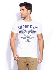 Superdry Men White Full Weight Entry T-shirt