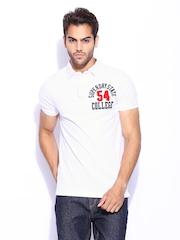 Superdry Men White Applique Polo T-shirt