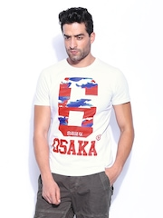 Superdry Men White Printed T-shirt