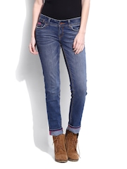 Superdry Women Blue Cigarette Slim Fit Jeans