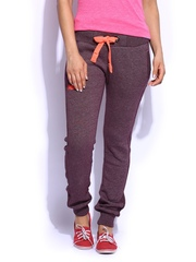 Superdry Women Burgundy Track Pants