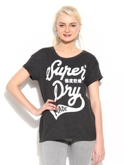 Superdry Women Grey Printed T-shirt