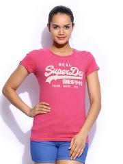 Superdry Women Pink Vintage Logo Entry Printed T-shirt