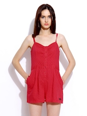Superdry Women Red Swiss Lotus Playsuit