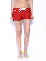 Superdry Women Red Swimming Shorts