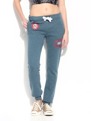 Superdry Women Bluish Grey Track Pants
