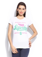 Superdry Women White Printed Icarus T-shirt