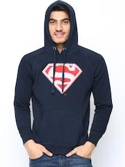 Superman by Free Authority Men Navy Hooded Sweatshirt