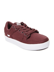 Supra Men Burgundy Vaider Casual Shoes