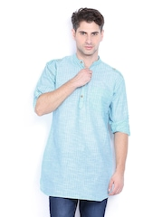 Svanik Men Blue & White Kurta