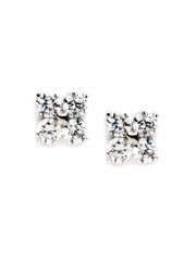 Svelte Silver Toned Stud Earrings