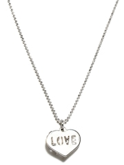 Svelte Steel Pendant with Chain