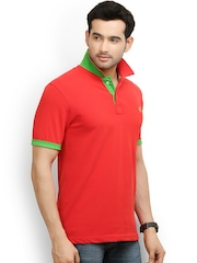 THISRUPT Men Red Polo T-shirt